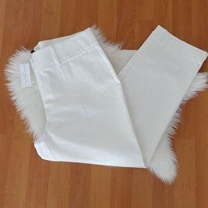 NWT Ann Taylor signature white crop pants sz 10